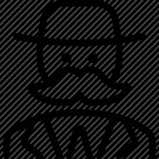 man, moustache, vintage icon