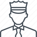 avatar, man, officer, picture, police, profile, security icon