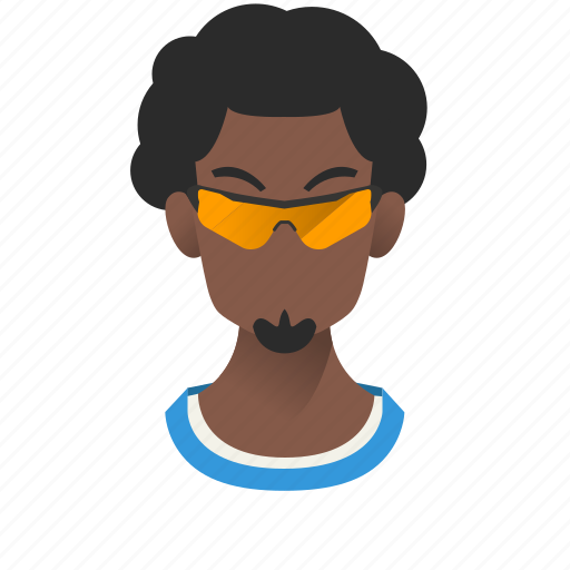 african, afro, avatar, beard, boy, character, gangster, glasses, guy, handsome, male, man, mascot, people, person, sport, star, team member, testimonial, user icon