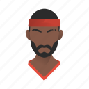 african, avatar, basketball, beard, boy, character, fashion, guy, handsome, male, man, mascot, moustache, people, person, player, sport, sportsman, sporty, team member, testimonial, user icon