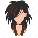 avatar, beautiful, celebrity, character, emo, famous, female, girl, gothic, hard rock, mascot, metal, people, person, punk, rock, singer, star, team member, testimonial, user, woman icon