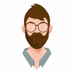 avatar, beard, boy, business, businessman, character, glasses, guy, handsome, hipster, male, man, mascot, moustache, people, person, professional, smart, team member, testimonial, user icon
