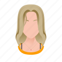 avatar, beautiful, character, female, girl, mascot, people, person, singer, team member, testimonial, user, woman icon