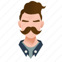 avatar, boy, character, guy, handsome, male, man, mascot, mexican, moustache, people, person, serious, team member, testimonial, user icon