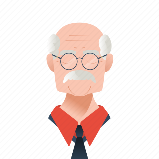 avatar, character, elder, elderly, glasses, grand father, gray hair, guy, male, man, mascot, mature, moustache, old, people, person, team member, testimonial, user icon