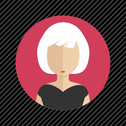 account, avatar, female, person, user, woman icon