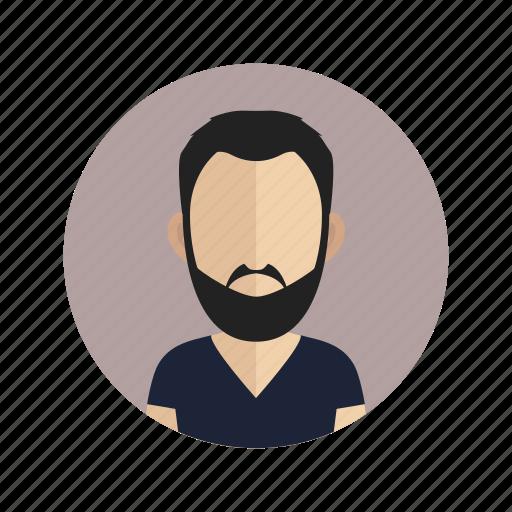 account, avatar, beard, male, man, person, user icon