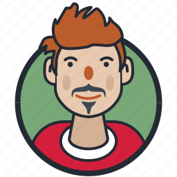 avatar, beard styled, male, mustache styled icon