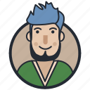 avatar, beard styled, male avatar, mustache styled icon