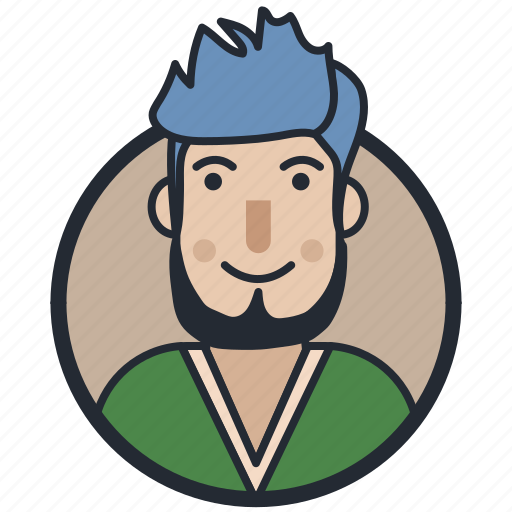 avatar, beard styled, male avatar, mustache styled icon