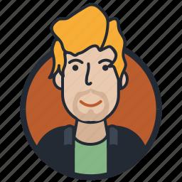 avatar, avatar people, human, mustache and beard icon