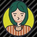 avatar, girl, teen age, profile