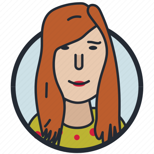 avatar, female, mature lady, woman icon