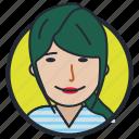 avatar, girl, happy face, teen age icon