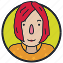 avatar, female, person, user icon