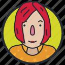 avatar, female, person, user icon