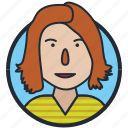 avatar, girl, people, user icon