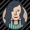 avatar, fashion female, female, user icon