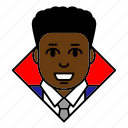 account, afro, avatar, business, businessman, entrepreneur, profile icon