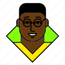 account, afro, avatar, man, person, profile, student icon