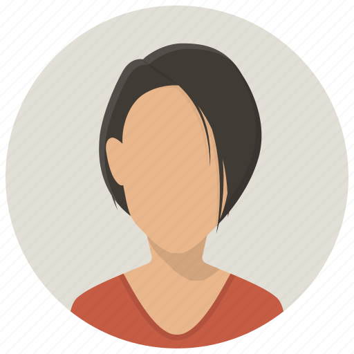 account, avatar girl, customer, human, profile, user, woman icon