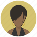 account, avatar, girl, human, profile, user, woman icon