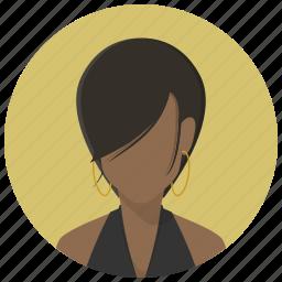 account, avatar, girl, human, profile, user, woman icon