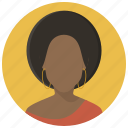 account, girl, human, person, profile, user, woman icon