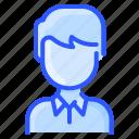 asian, avatar, man, polo, shirt, user