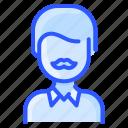 asian, avatar, man, moustache, old, user