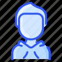 avatar, hoodie, man, user, white