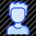 avatar, man, shirt, spiky, user, white
