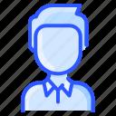 avatar, man, polo, shirt, user, white