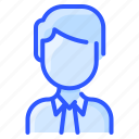 avatar, business, man, suit, user, white