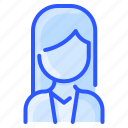 avatar, business, hair, straight, user, white, woman