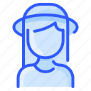 avatar, hair, hat, straight, user, white, woman