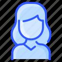 avatar, hair, shirt, thick, user, white, woman