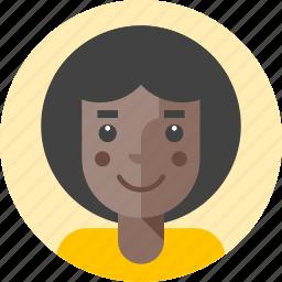 avatar, disco, female, girl, lady, person, woman icon