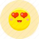 amorous, emoticon, emoticons, expression, happy, in love, love-lorn icon