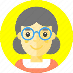 crone, eyeglasses, glasses, grandmother, granny, old woman, squaw icon