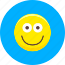 emoticon, emoticons, expression, face, happy, smile, smiley icon
