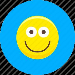 emoticon, emoticons, expression, face, happy, smile, smiley icon