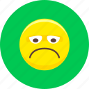 angry, emoticon, emoticons, emotion, expression, sad, unhappy icon