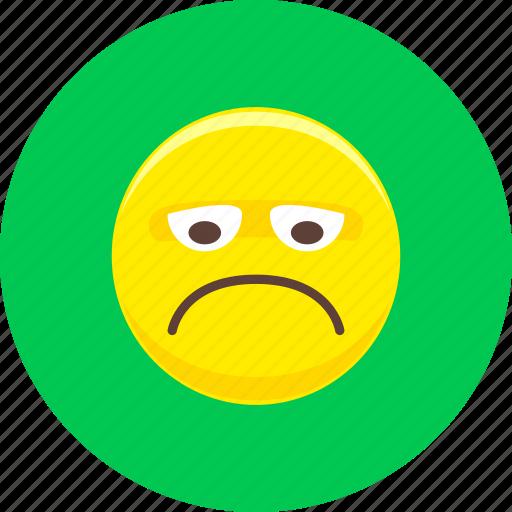 angry, emoticon, emoticons, emotion, expression, sad, unhappy icon