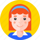 girl, lady, pupil, redhead, school, schoolgirl, student icon