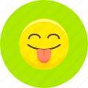 emoticon, emoticons, expression, smile, smiley, snide, tongue icon