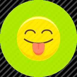 emoticon, emoticons, expression, smile, smiley, snide, tongue icon