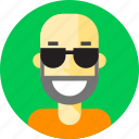 avatar, bearded, face, male, man, person, smiley icon