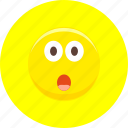 astonished, emoticon, emoticons, emotion, expression, staring, surprised icon