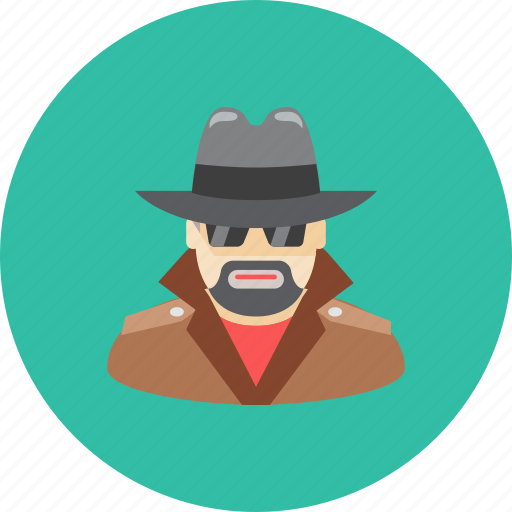 agent, avatar, face, glasses, hat, man, profile icon